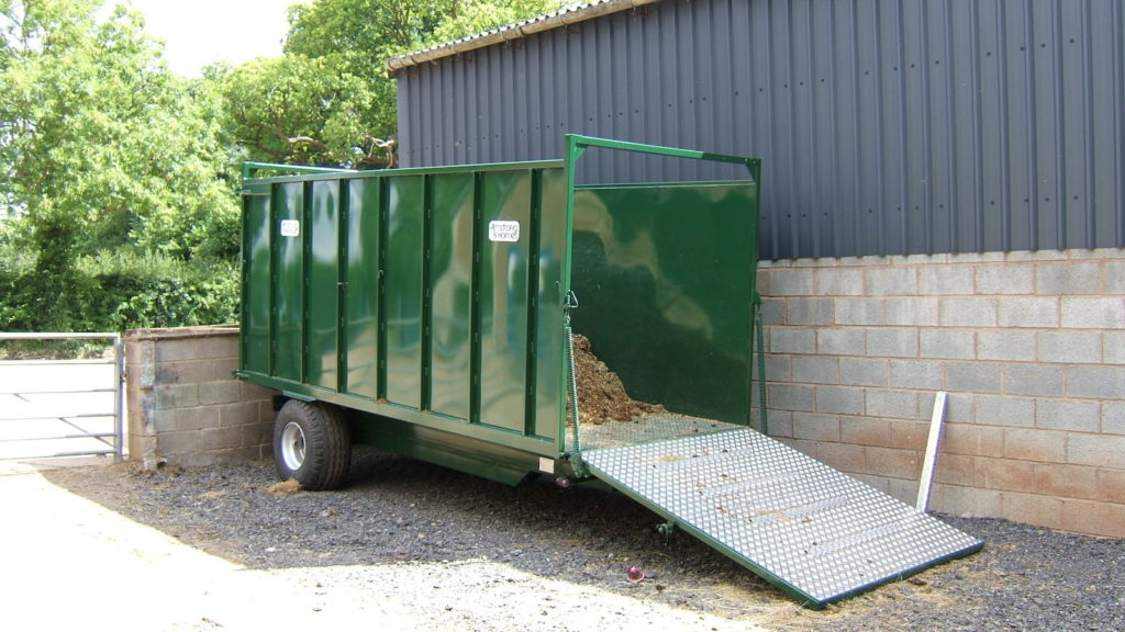 Armstrong & Holmes Horse Muck Trailer in Green