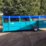Armstrong & Holmes Farm Trailers Pig Livestock Trailer Blue