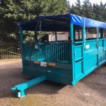 Armstrong & Holmes Farm Trailers Pig Livestock Trailer Blue